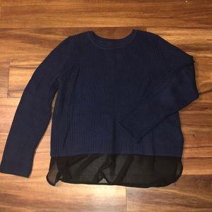 Sz M Banana Republic sweater with sheer underhang